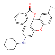 6'-(cyclohexylamino)-2'-methylspiro[2-benzofuran-1,9'-xanthene]-3-one