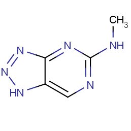 v-triazolo[4,5-d]pyrimidine, 5-methylamino-