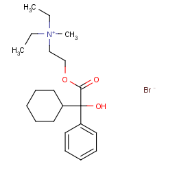2-(2-cyclohexyl-2-hydroxy-2-phenylacetyl)oxyethyl-diethyl-methylazanium;bromide