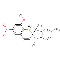 8'-METHOXY-1,3,3,5-TETRAMETHYL-6'-NITROSPIRO[INDOLINE-2,2'-THIOCHROMENE]